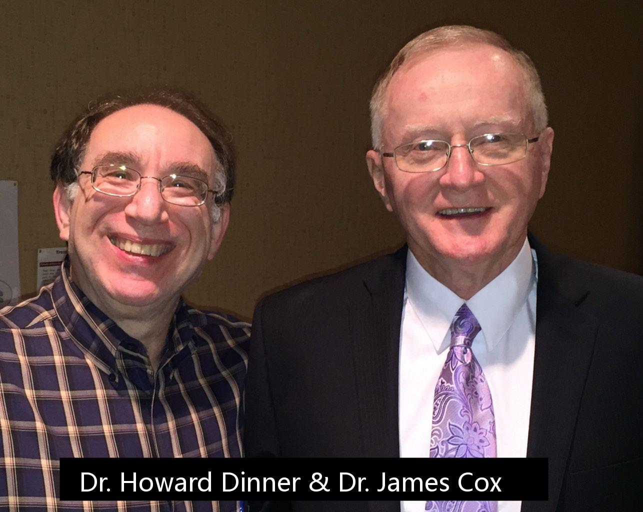 Dr. Howard Dinner, Plantation, FL and Dr. James Cox, Ft. Wayne, IN founder and developer of Cox Flexion Distraction Spinal Disc Decompression Therapy